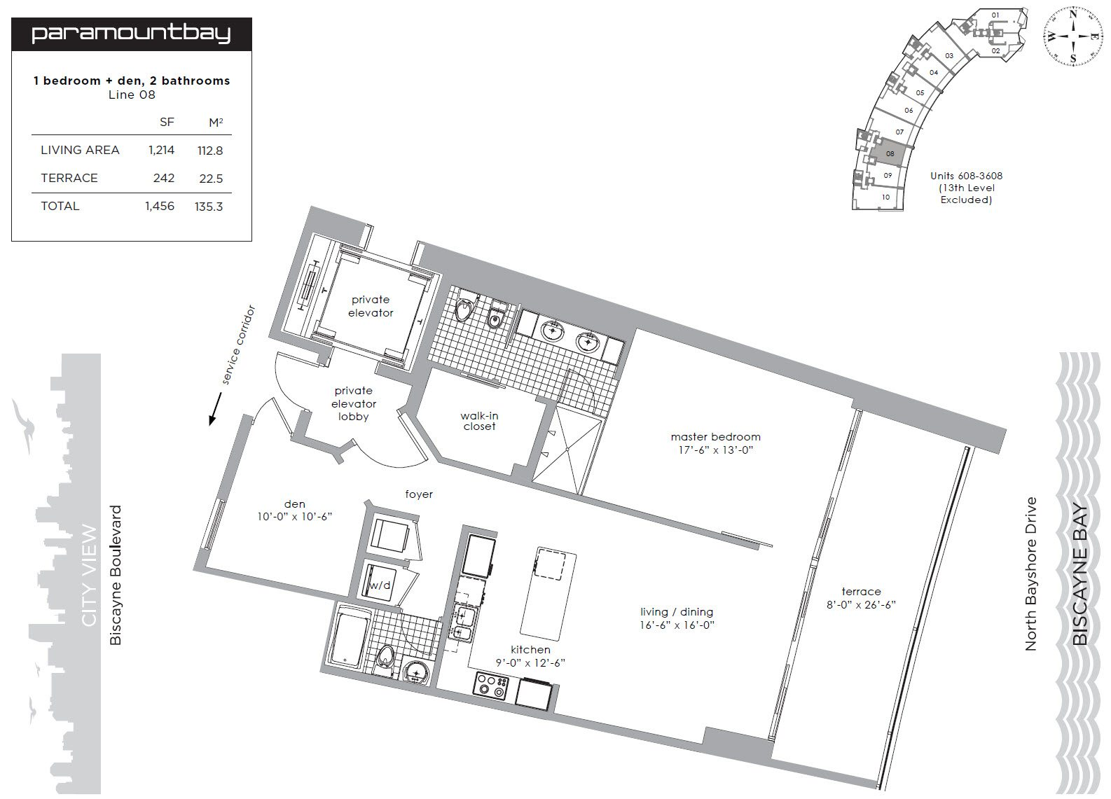 Paramount Bay unit 1908 floor plan