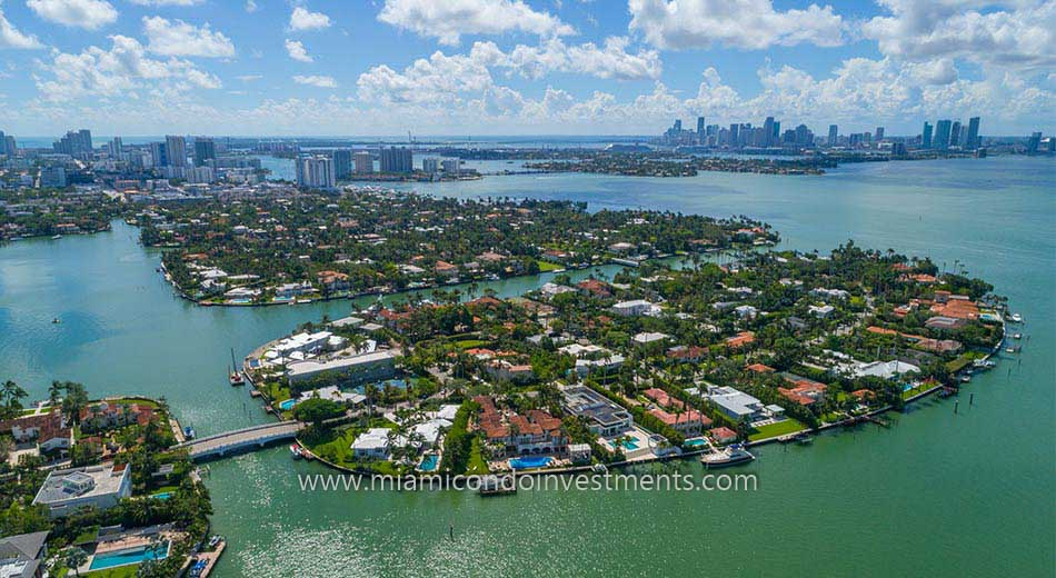 luxury homes on Sunset Islands in Miami Beach