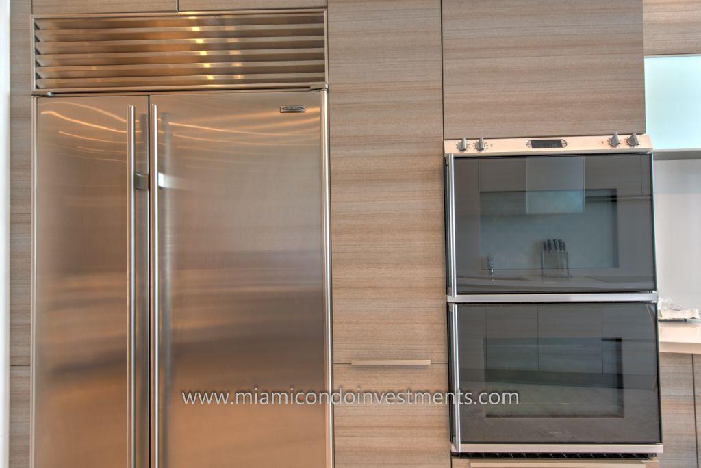 high-end kitchen appliances by Sub-Zero and Gaggenau