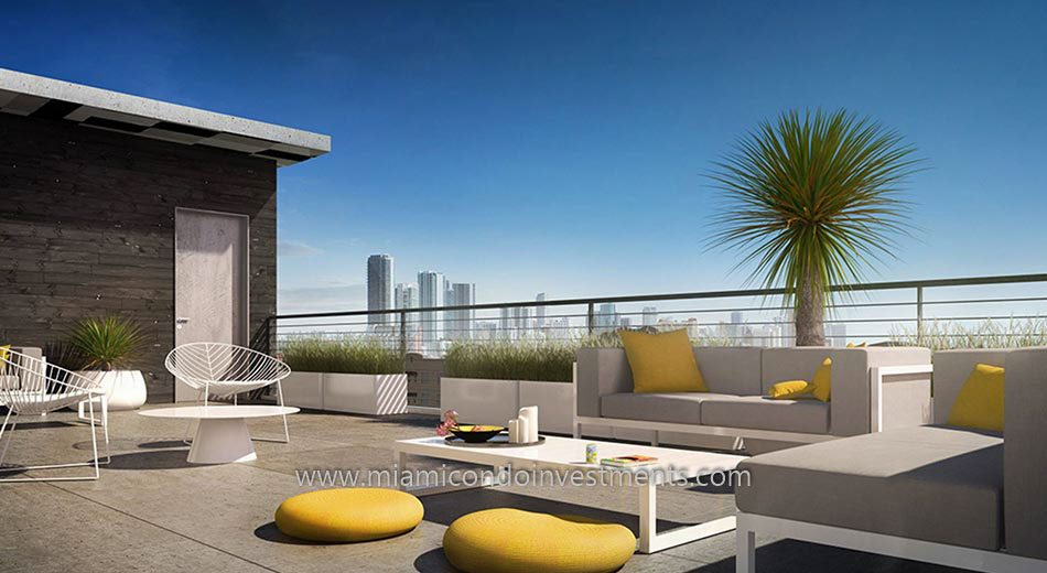 rooftop terrace at 250 Wynwood