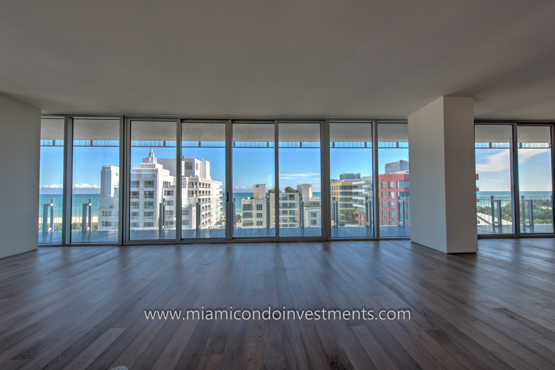 sweeping views from GLASS condos in Miami Beach