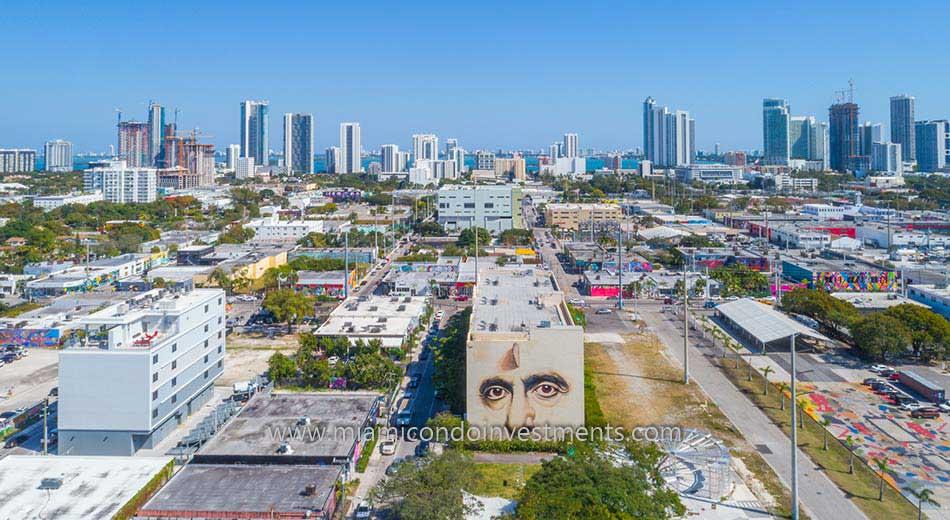 aerial photo of Wynwood Lofts Miami