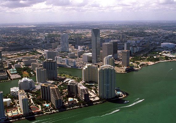 Downtown Miami in 2002.