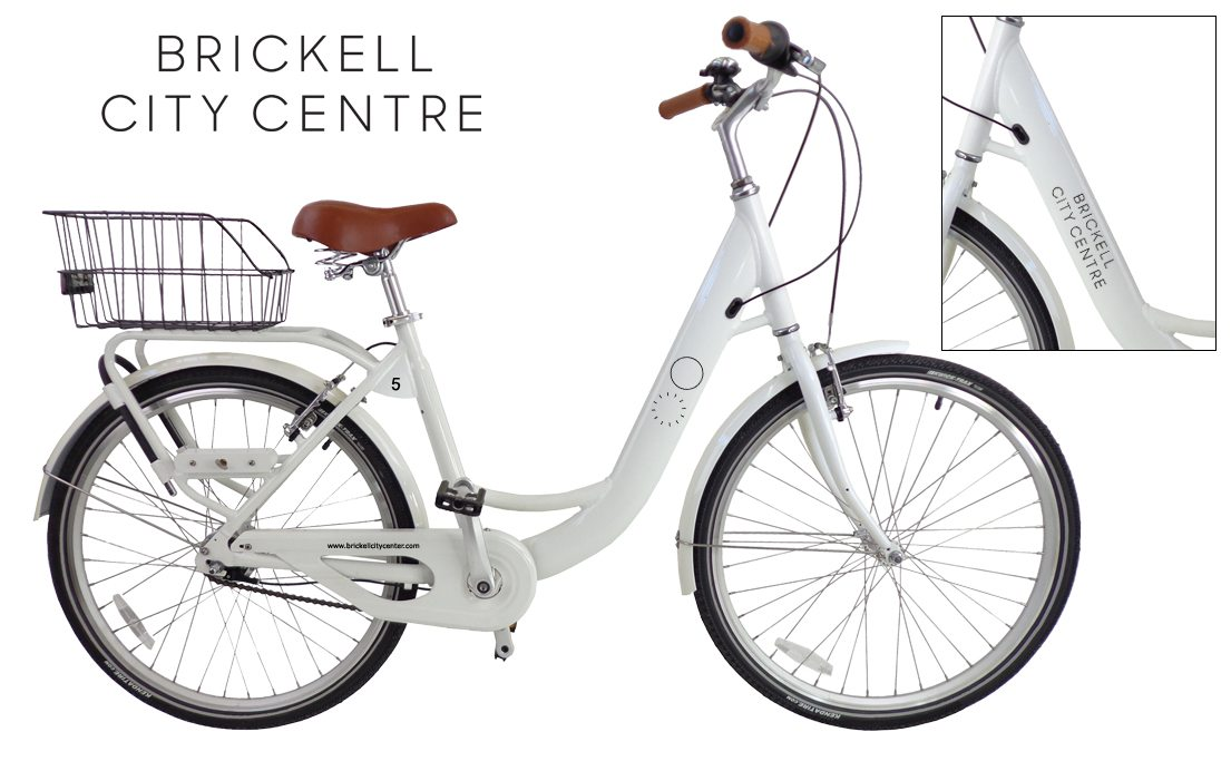 Brickell City Centre branded bicycles.
