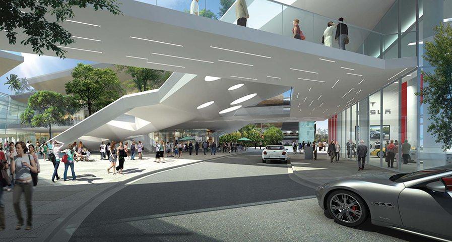 Aventura Mall New Wing, designed by Carlos Zapata.