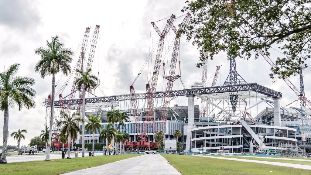 Miami Dolphins Stadium Construction