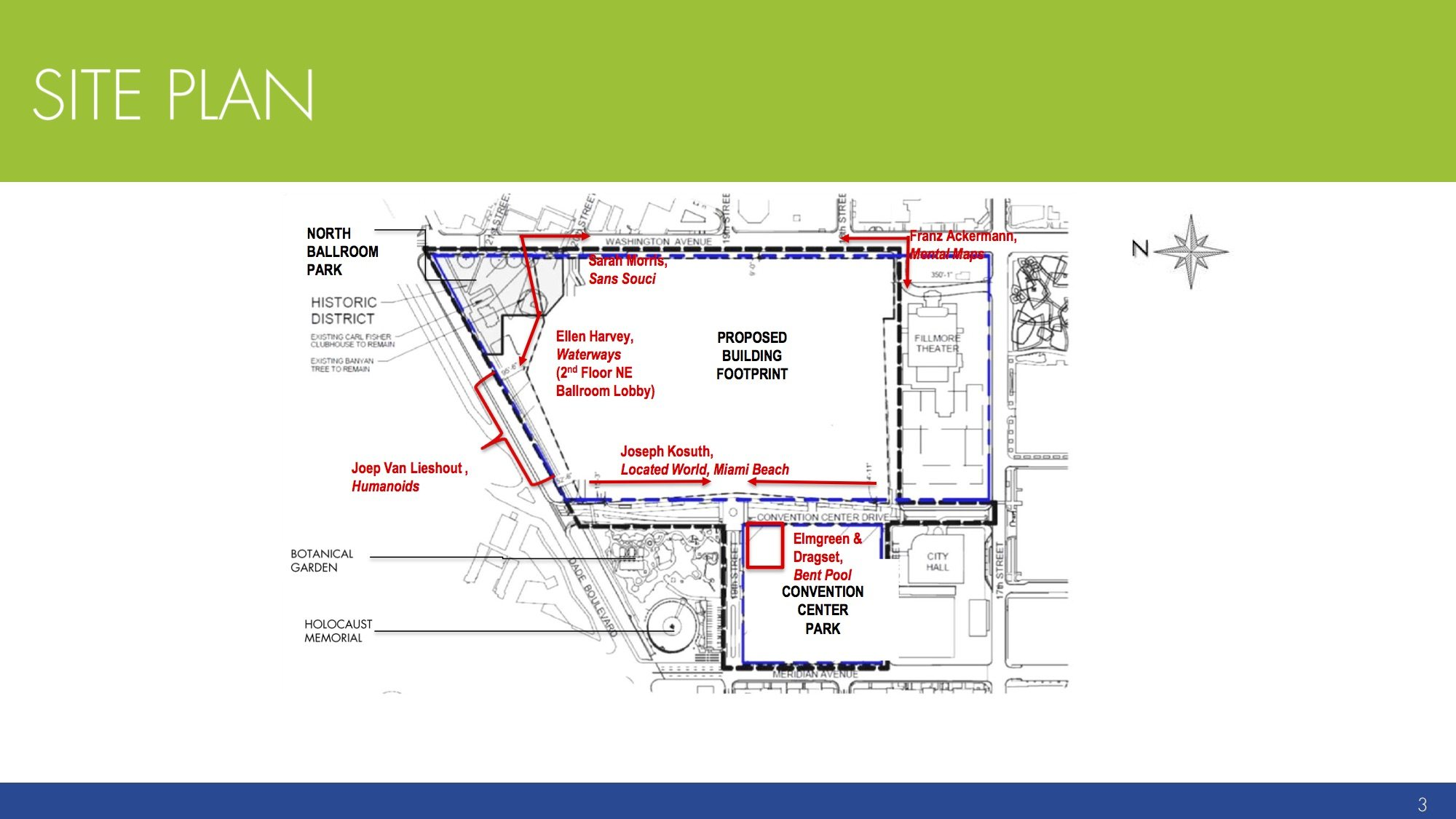 convention center art site plan