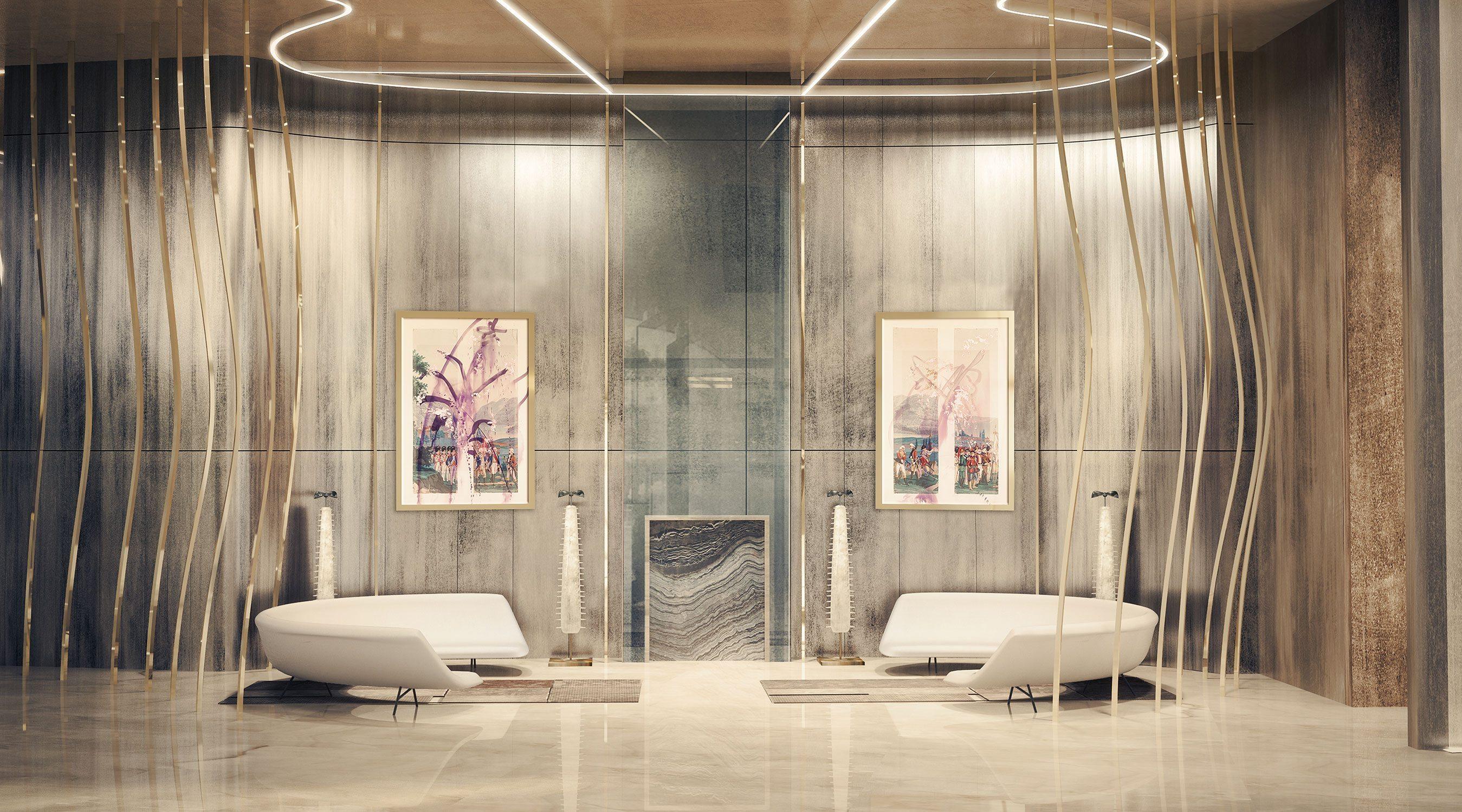 Brickell Flatiron Lobby.