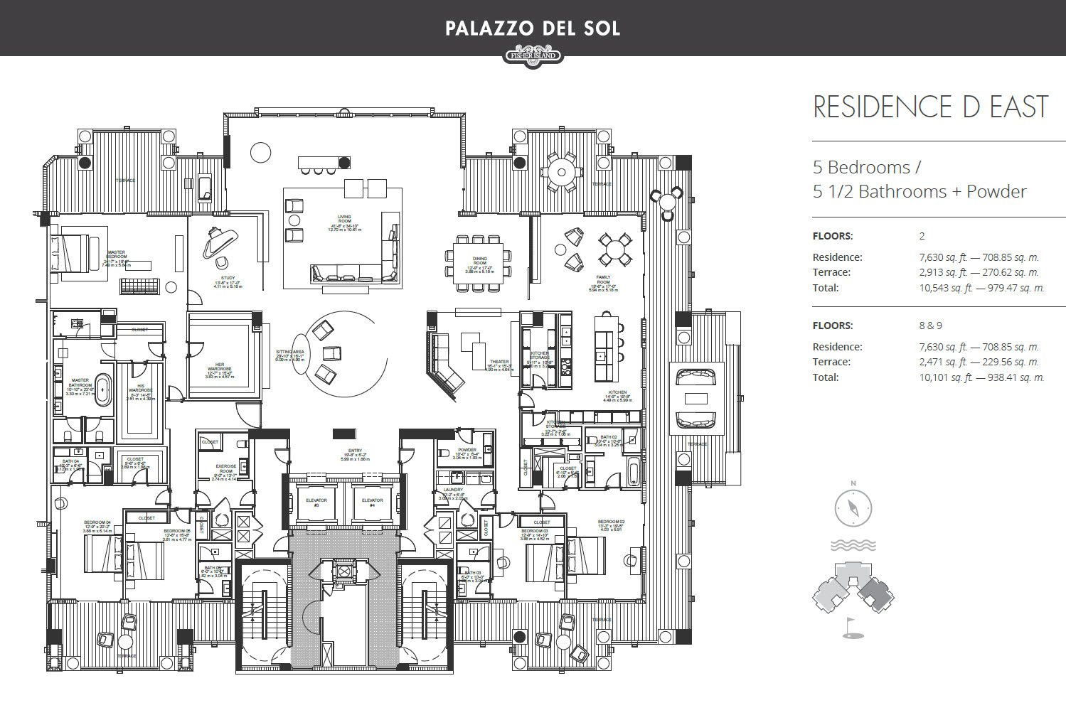 Palazzo Del Sol residence d east floor plan