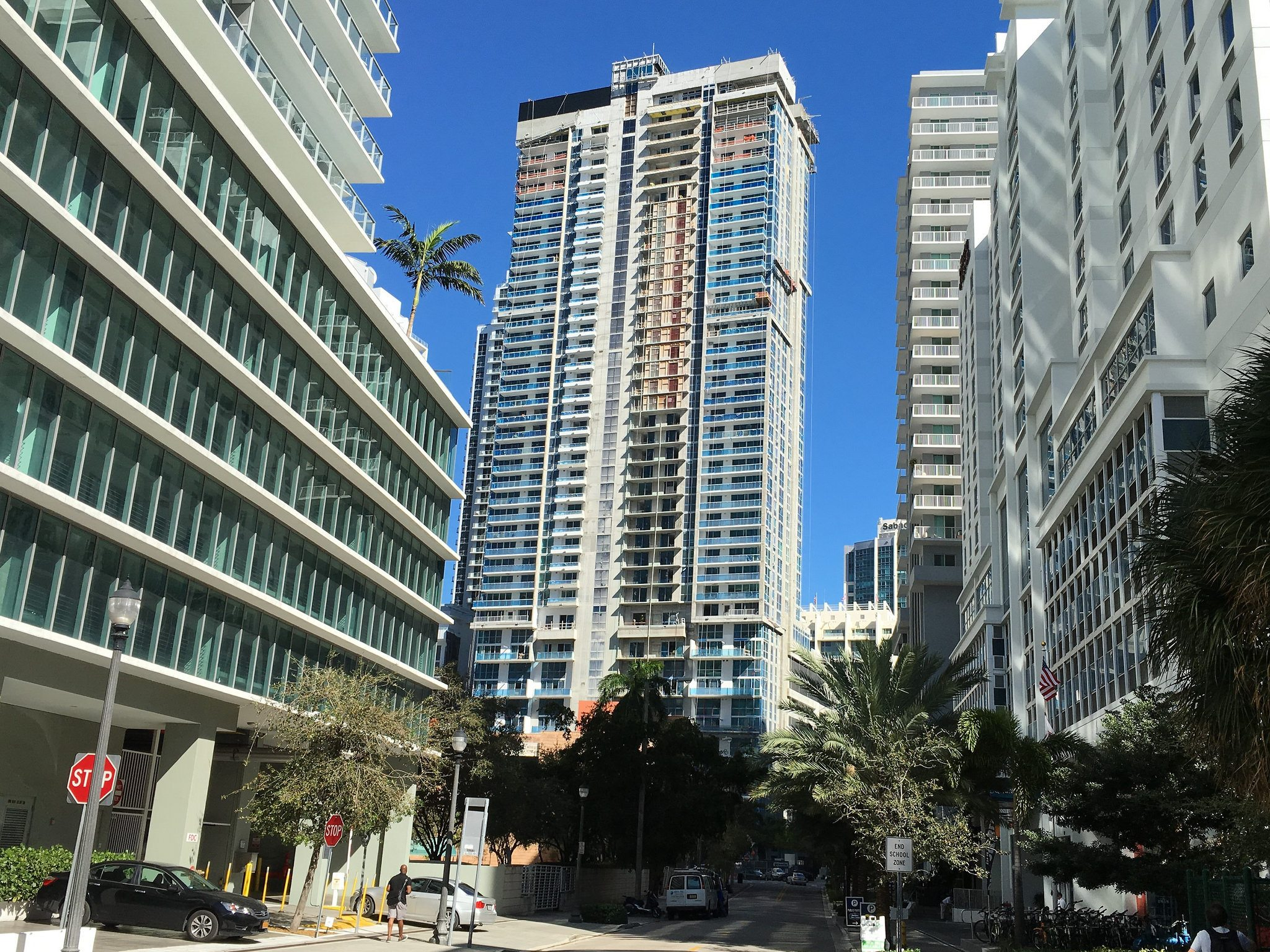 The Bond on Brickell construction photo from February. Photo by Phillip Pessar.