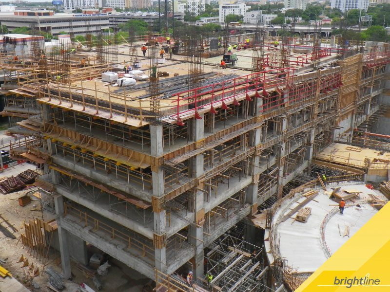 Rebar and formwork for 3MiamiCentral's sixth level.