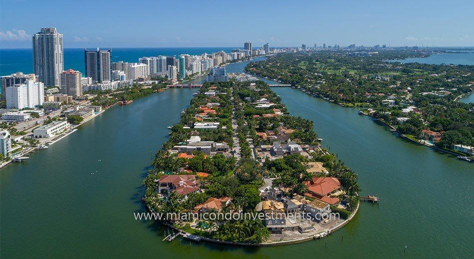 Allison Island homes in Miami Beach