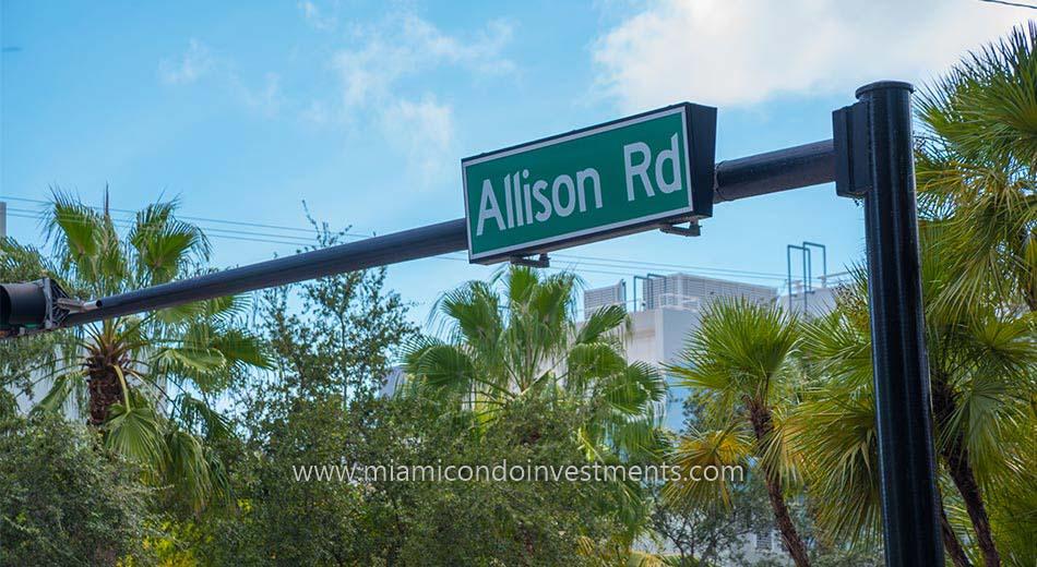 Allison Road on Allison Island
