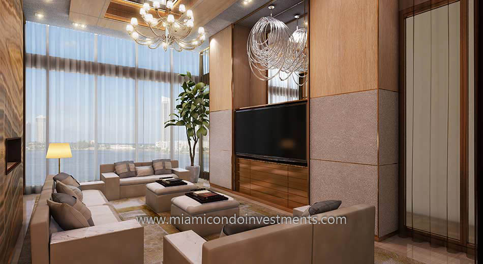 media room at Prive Aventura