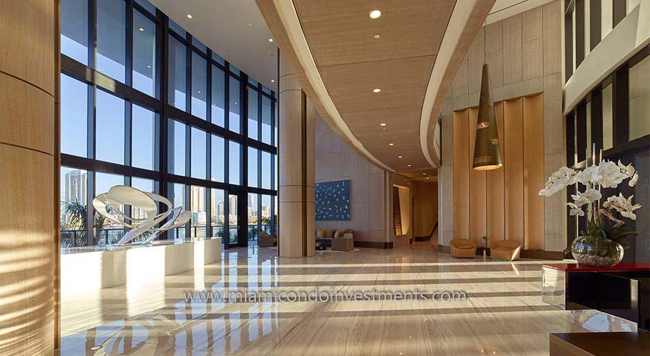 lobby at Prive condos