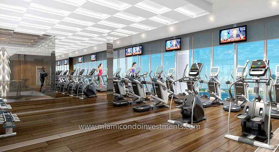Prive condos fitness room
