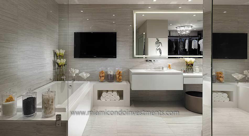 Prive condos master bathroom