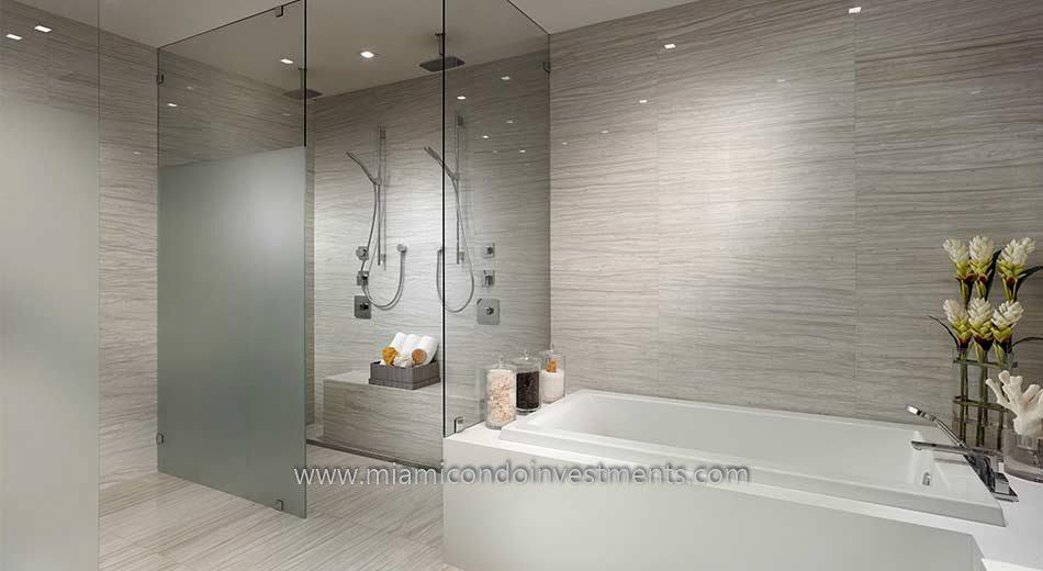 Prive condos master bath