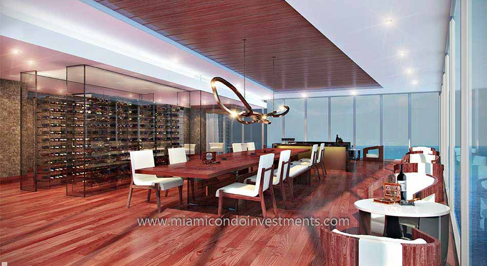 Prive condos wine room
