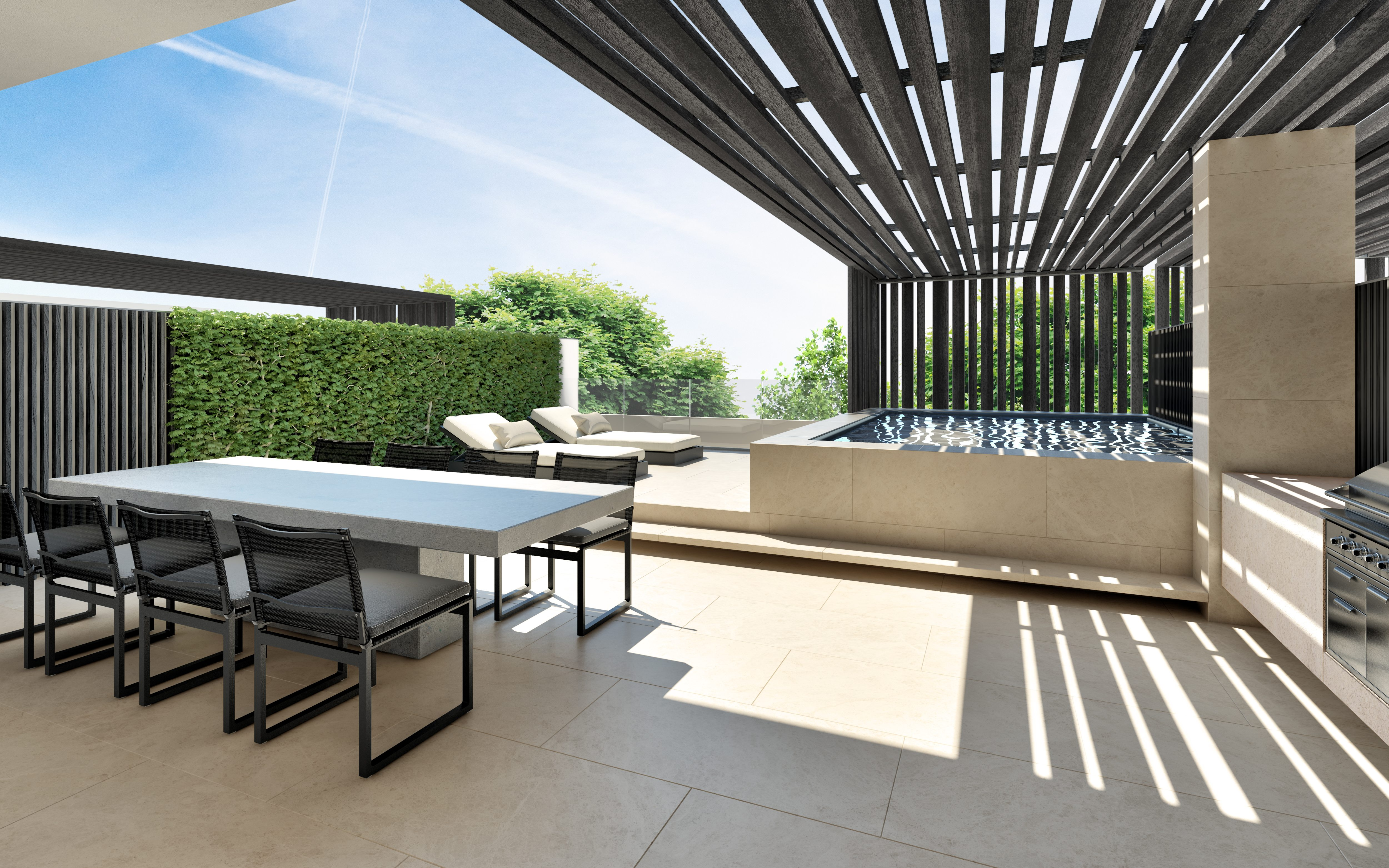 11Lenox_Outdoor terrace stripes