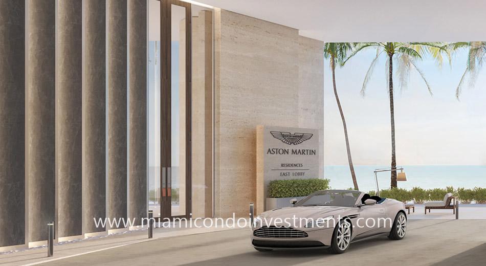 porte cochere Aston Martin Residences