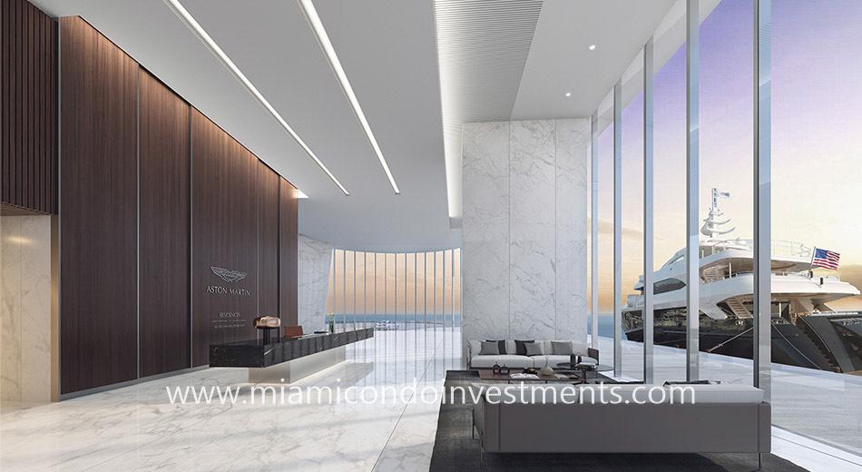 lobby Aston Martin Residences
