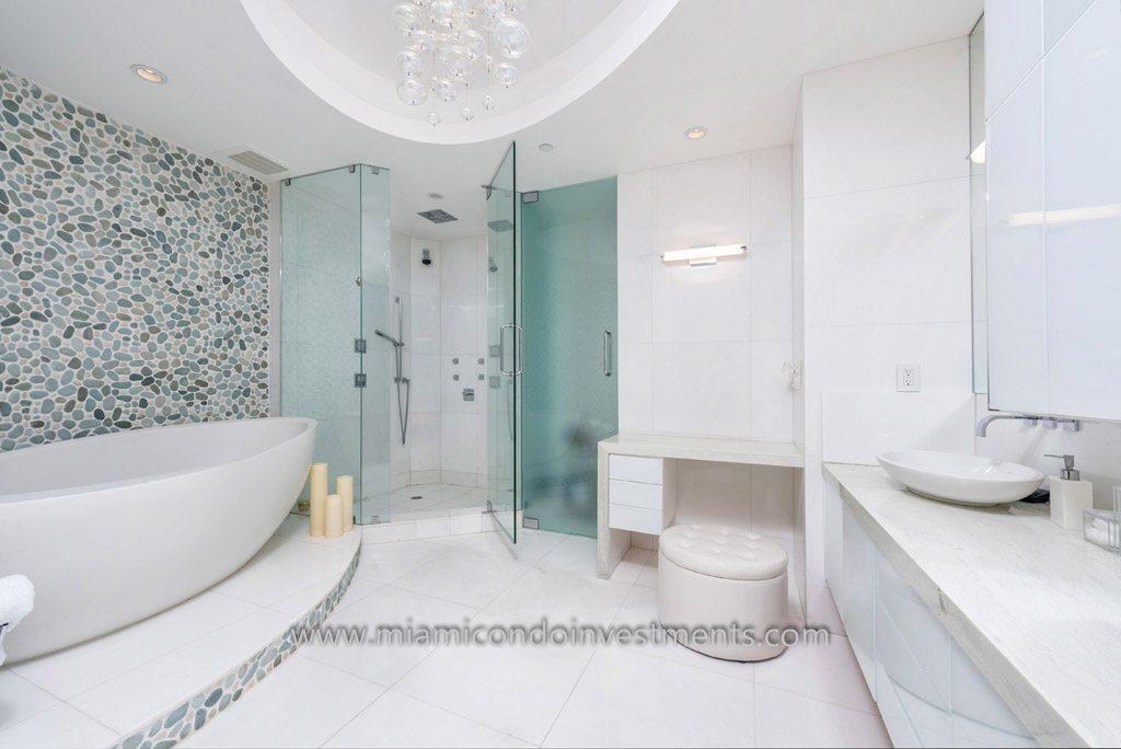 fully renovated master bath