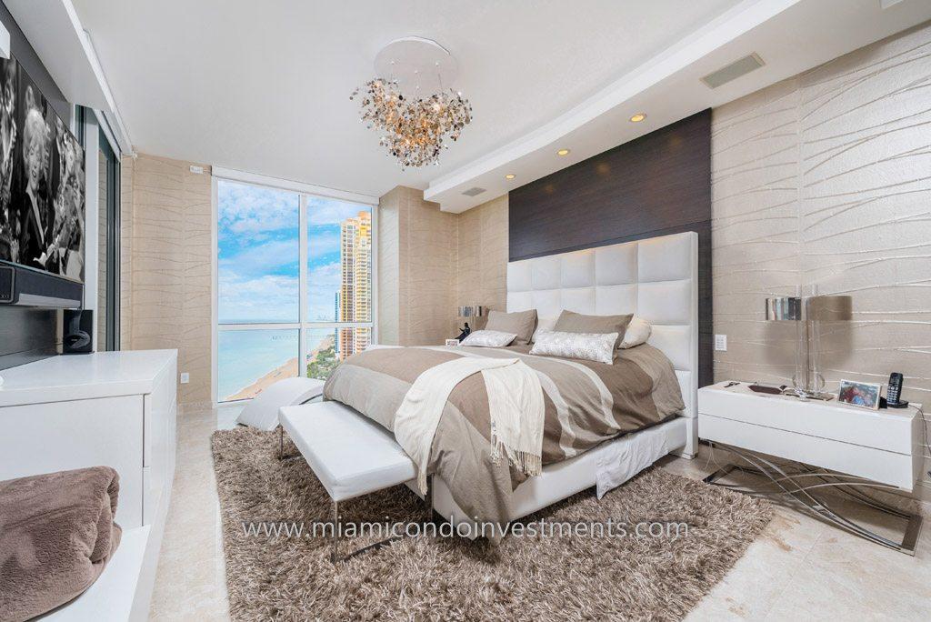 master bedroom trump palace condo