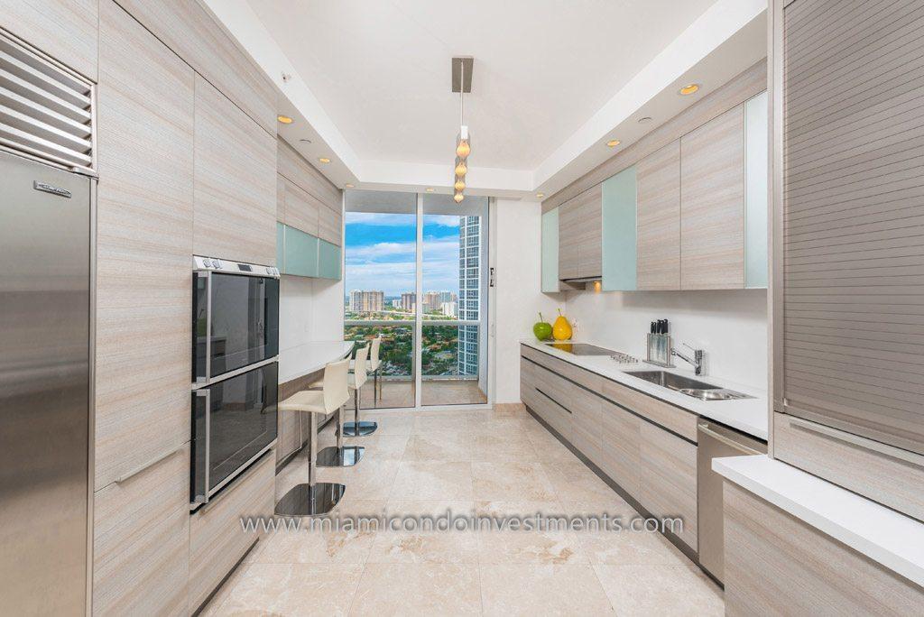 renovated kitchen trump palace condo