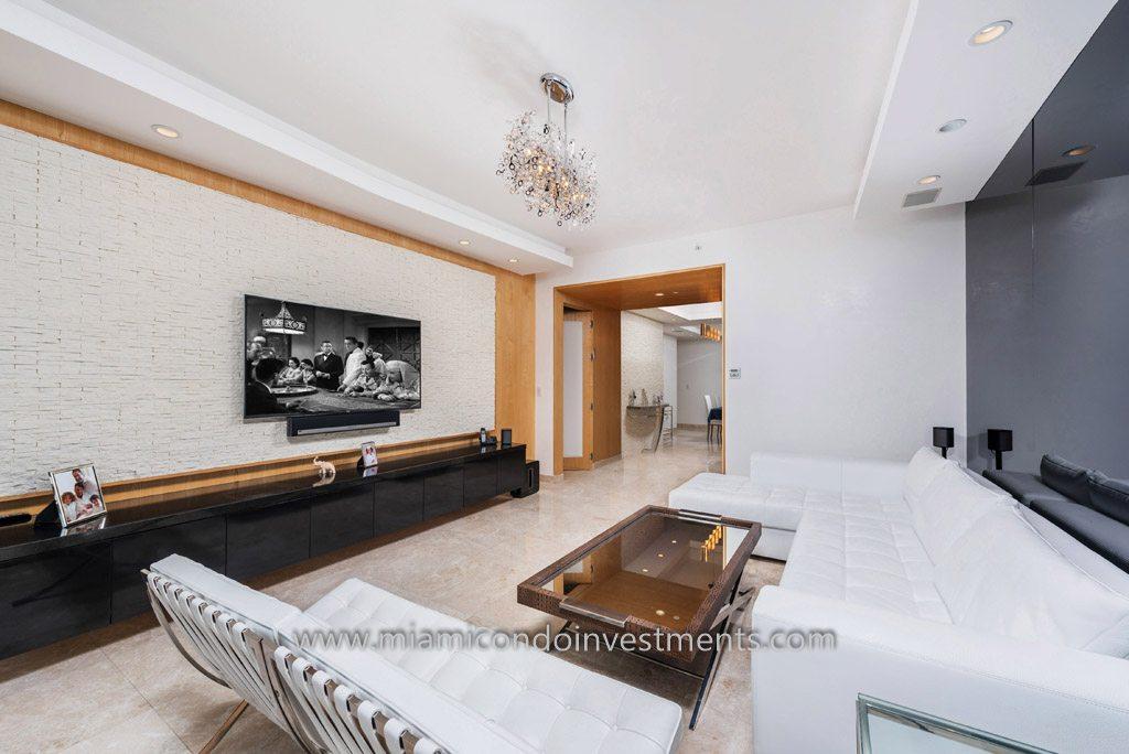 Trump Palace unit 3604 living room