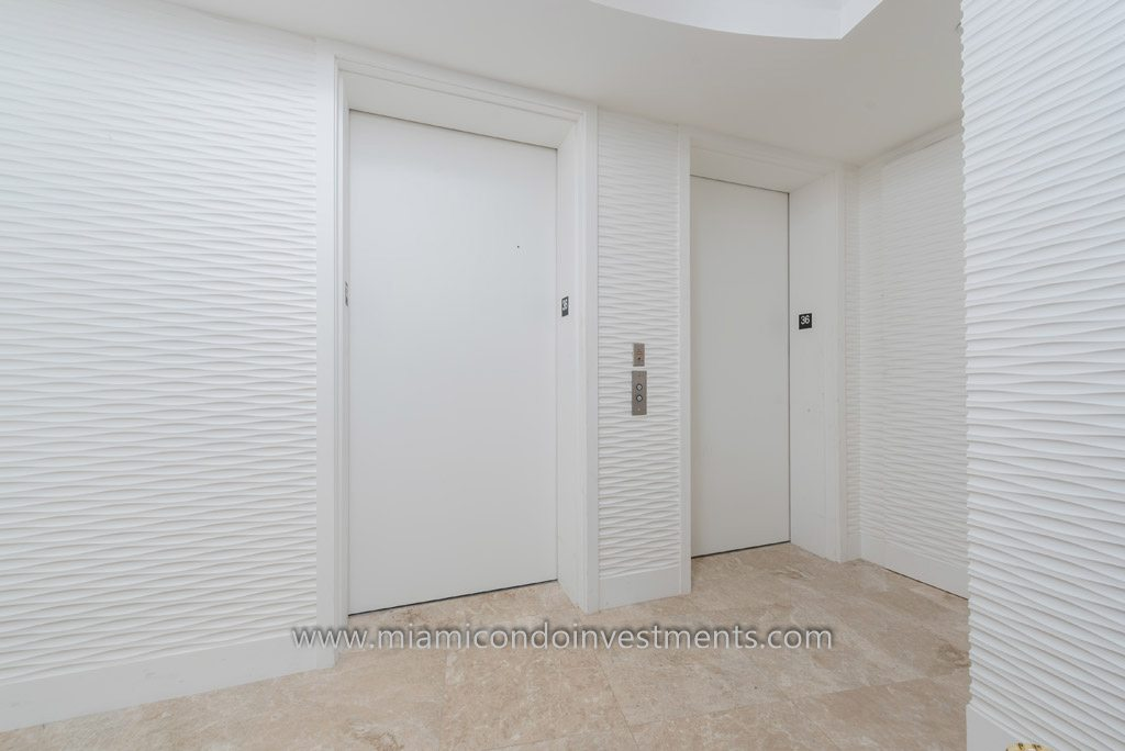 foyer with private elevators