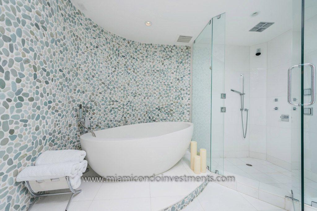 Trump Palace renovated master bathroom