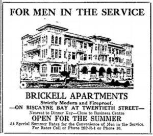 Brickell Apartments Advertisement from www.miami-history.com
