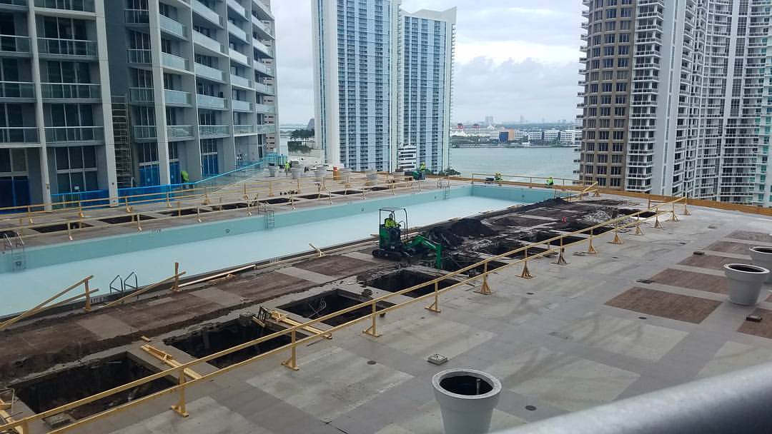 IconBrickell Pool Construction