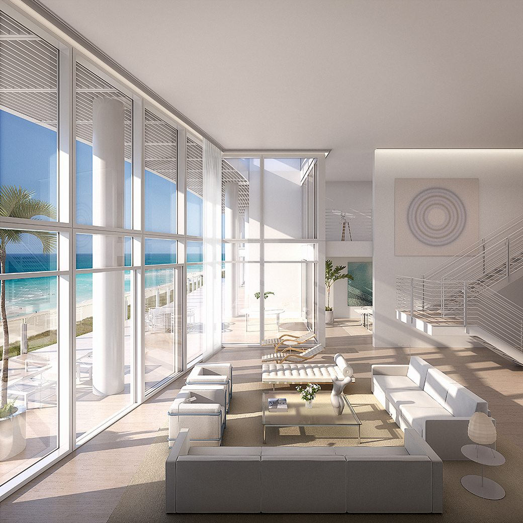 Surf Club Four Seasons Double Height Living Room