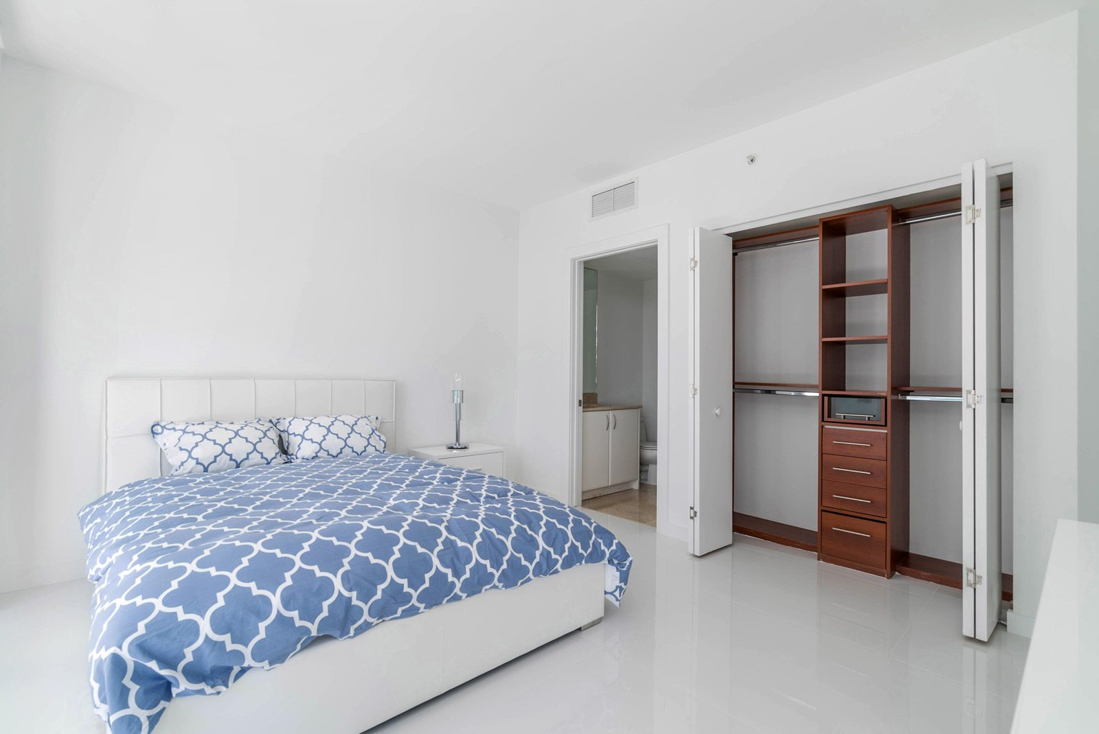 furnished second bedroom