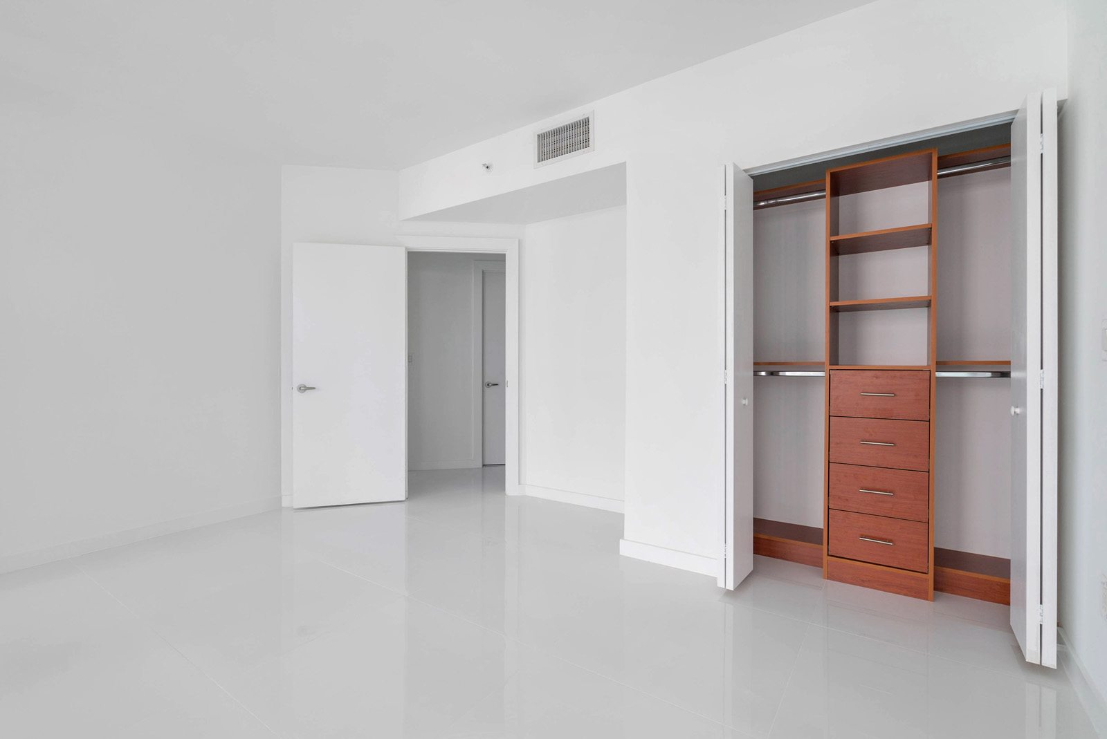 third bedroom with built-in closets