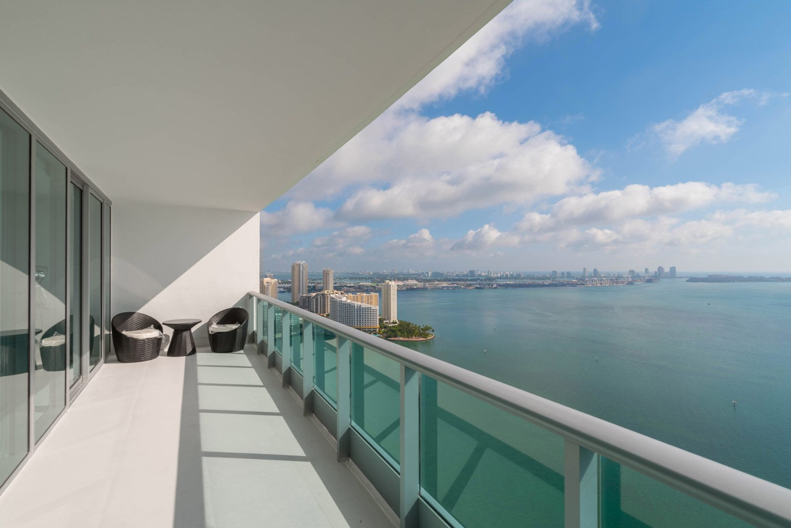 Jade at Brickell Bay view from 41st floor