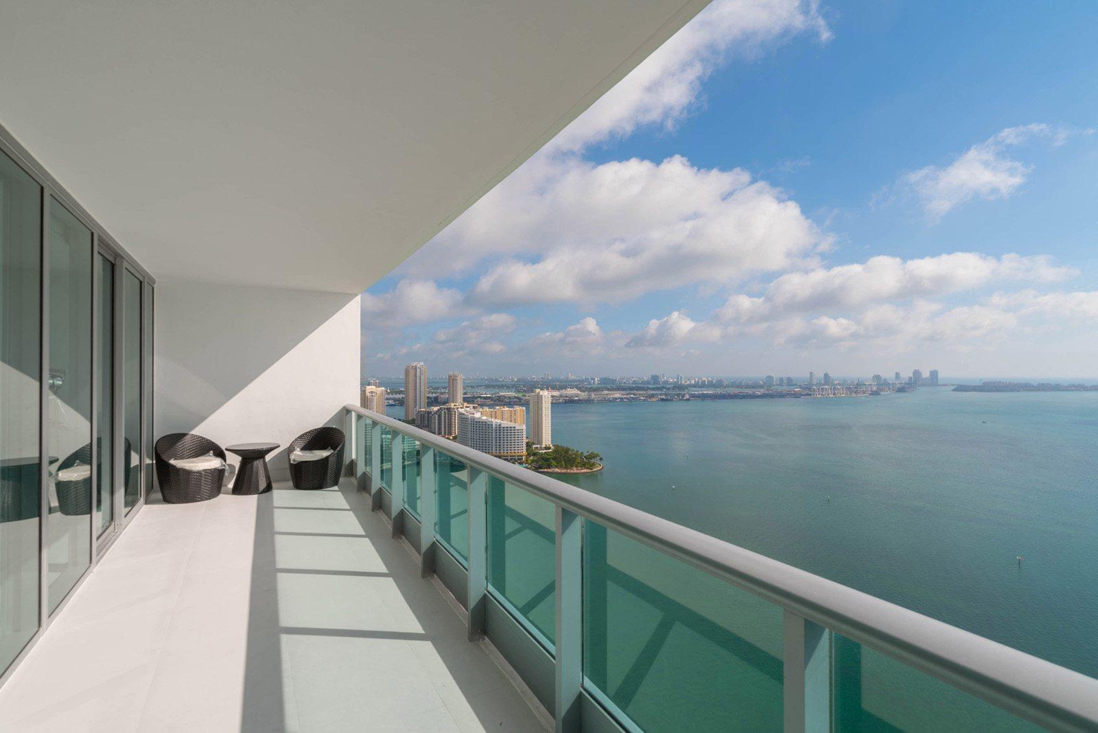 Jade at Brickell Bay view from 41st floor