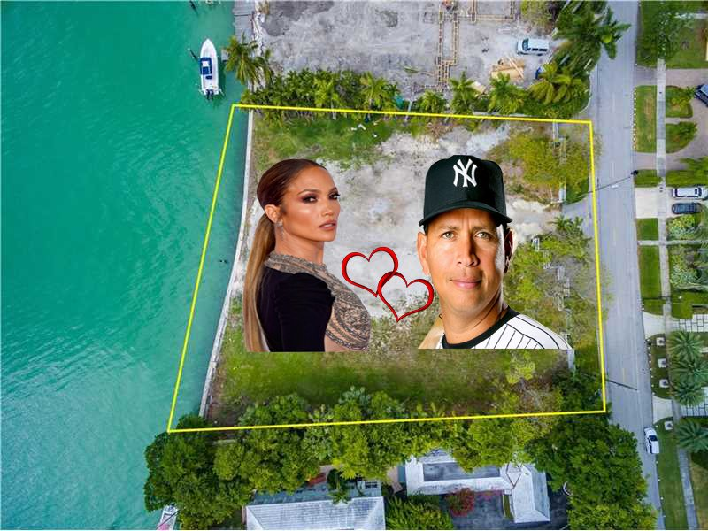 5480 North Bay Road Jennifer Lopez and Alex Rodriguez