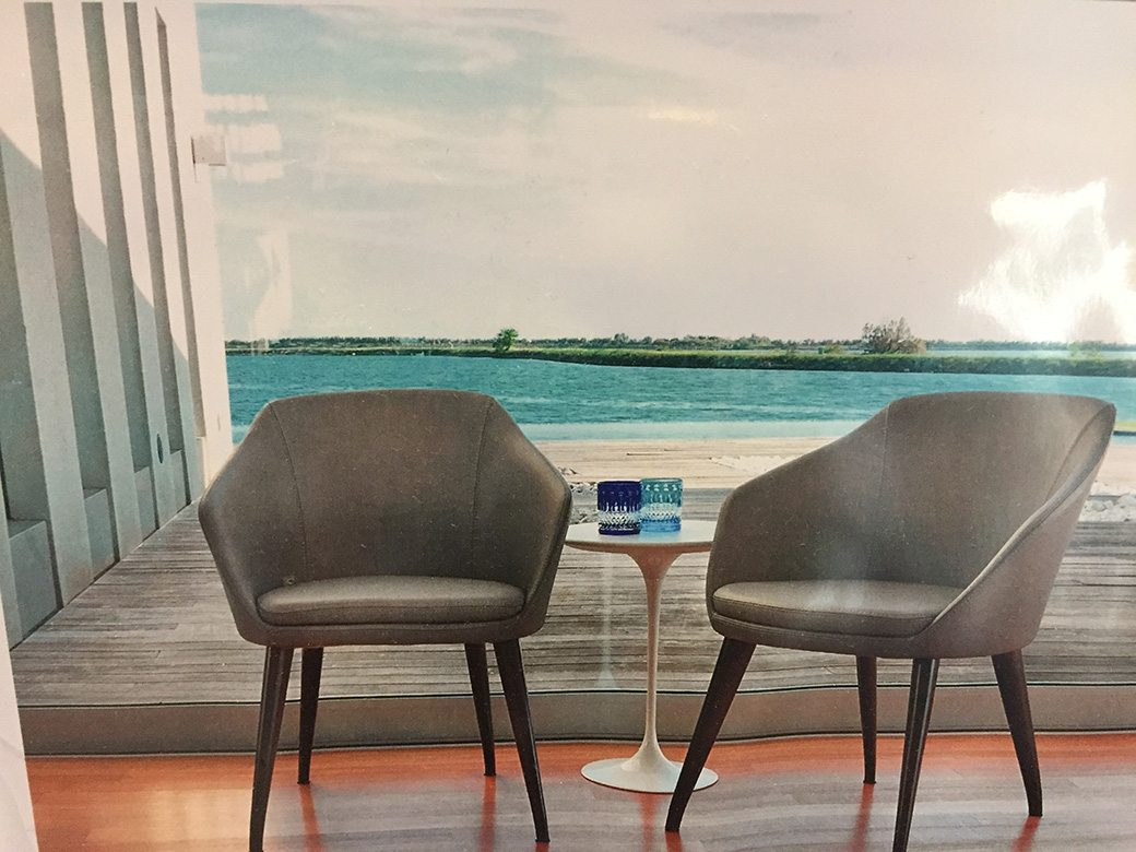 Two Tequesta Point Miami Condos Modern Chairs 02