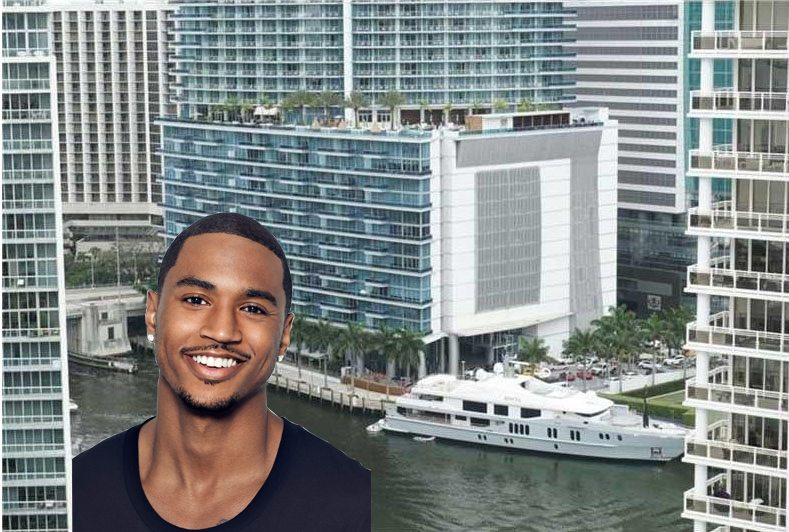 Trey Songz view from Brickell Key condo