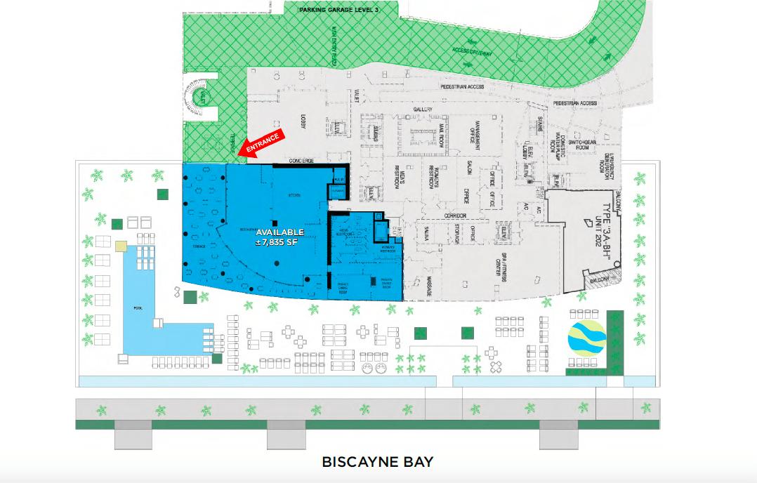 Biscayne Beach Restaurant Layout