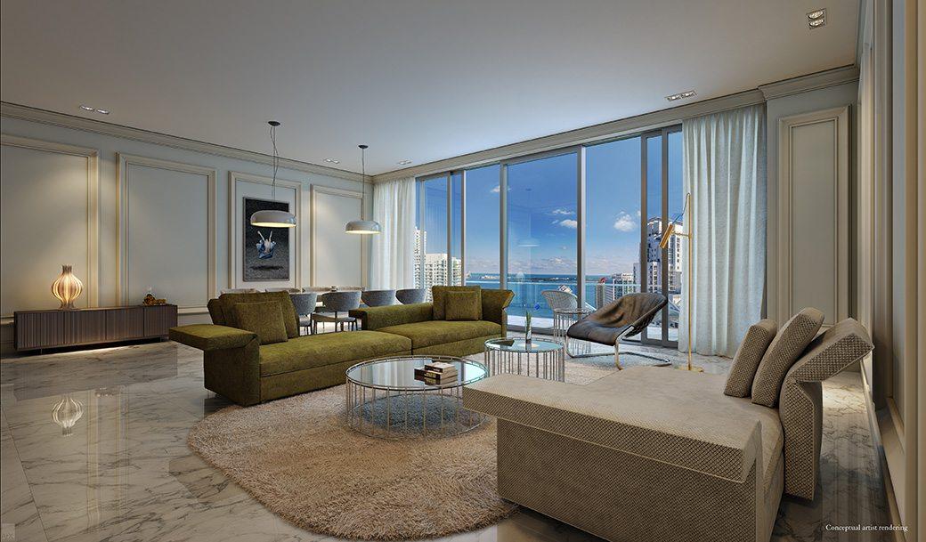 Brickell Flatiron 14 Living Room