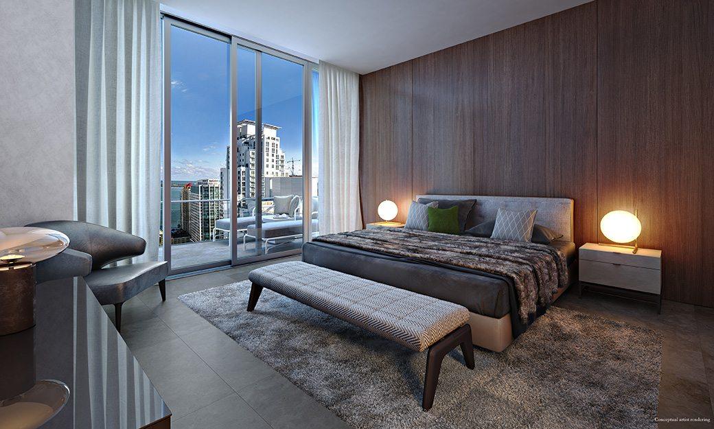 Brickell Flatiron 17 Master Bedroom