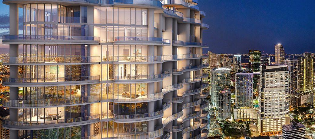 Brickell Flatiron 21 Balcony and View