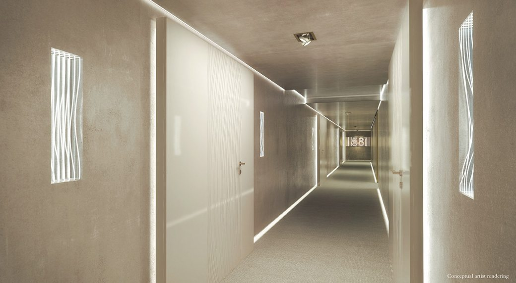Brickell Flatiron 8 Corridor