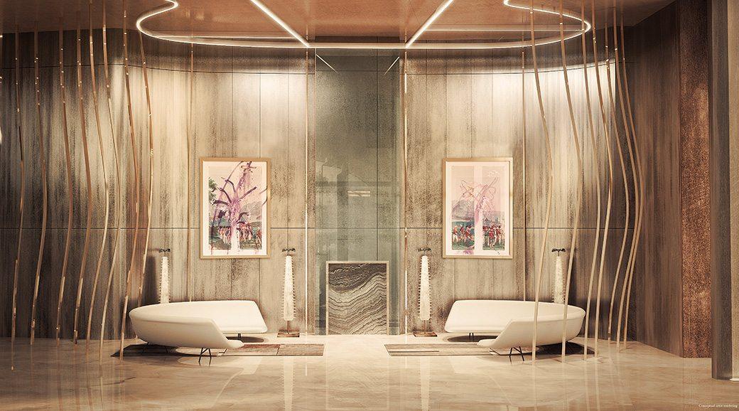 Brickell Flatiron Lobby