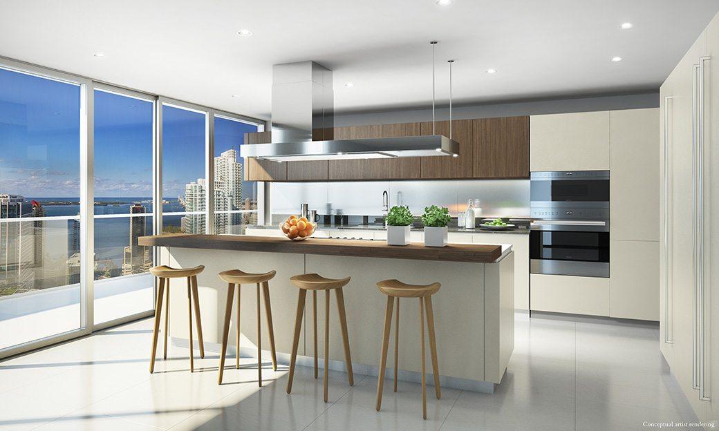 Brickell Flatiron Penthouse Kitchen