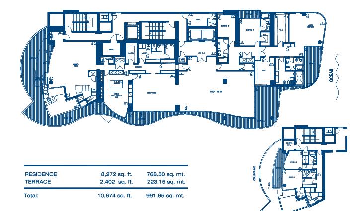 Chateau Beach Sky Villa 3 Floor Plan
